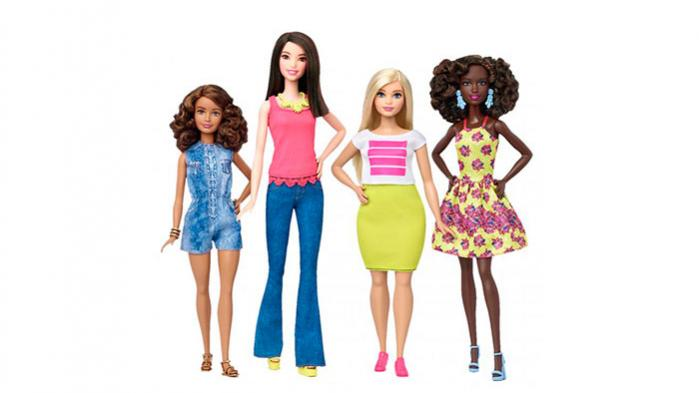 Mest af alt ligner den 'buttede' Barbie en gennemsnitlig kvinde i størrelse 38, hvis man ser bort fra de lange slanke arme, det glinsende hår og de store Disney-øjne.