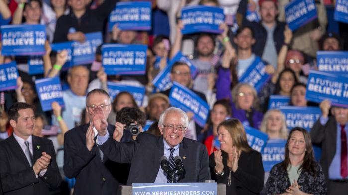 Bernie Sanders holder sin sejrstale i New Hampshire, hvor han tirsdag vandt over Hillary Clinton i kampen om at blive Demokraternes præsidentkandidat.