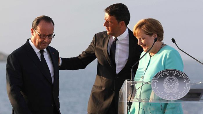 Mange troede, at EU var færdigt efter brexit, men sådan er det ikke, siger Italiens premierminister, Matteo Renzi, forud for et møde mandag aften med Tysklands forbundskansler, Angela Merkel, og Frankrigs præsident, François Hollande