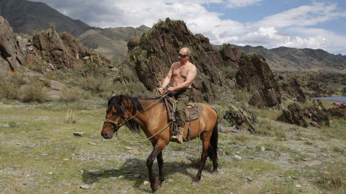 Putin har igennem 15 år opbygget en personkult med sine stærkmandsstunt. Formålet er ifølge den russiske journalist Zygar at vise den russiske offentlighed, at Putin er »ung, energisk, aktiv ... og en rigtig mand«.