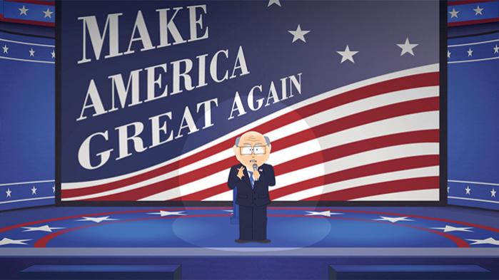 Ud over Danmark og danskerne er den amerikanske valgkamp hovedtema i den ny sæson af South Park. Skildringen af Danmark lægger sig i øvrigt tæt op ad Danmarksbillede, Bernie Sanders billed fremførte i primærvalgkampen