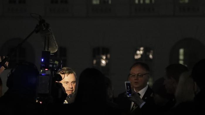 Lederen af det østrigske Frihedsparti, Norbert Hofer, under valgkampen. Partiets anti-immigrant og anti-EU dagsorden fik stor, men ikke afgørende tilslutning ved det netop afholdte valg i Østrig