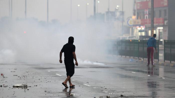 Demonstration i Bahrain, hvor der har været eksempler på, ataktivister blevet torteret, mens de blev forhørt om private beskeder, som myndighederne havde opsnappet ved hjælp af overvågningsudstyrNokia Siemens Networks.