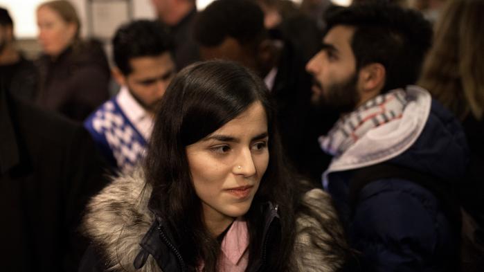 Rokhsar Sediqi til premieren af filmen om hende i Grand Teatret i København.