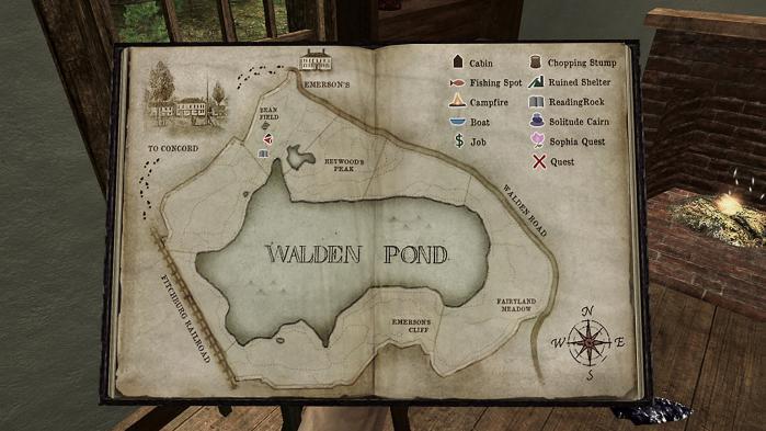 I computerspillet 'Walden, the game', kommer man helt ned i tempo ved den berømte sø. Her kan man bl.a. bygge et hus, læse en bog, fiske og snakke med de lokale dyr som mennesker.