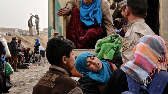 Flygtninge fra kampene i og omkring Mosul kommer stadig til lejren i Hammam al-Alil. Men forholdene er ringe for de overvejende sunni-muslimske flygtninge.