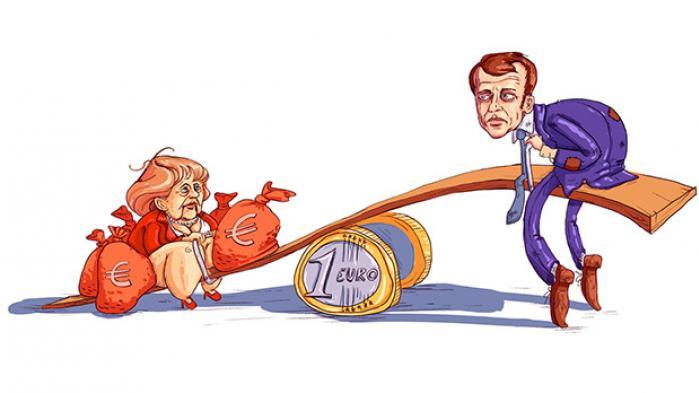 Angela Merkel siger, at hun støtter Emmanuel Macrons plan om at reformulere grundlaget for det europæiske samarbejde. Macron kræver flere tyske investeringer og nye spilleregler for euroen til gengæld for franske arbejdsmarkedsreformer