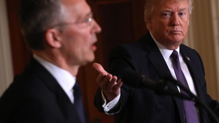 På torsdagens NATO-topmødegår alt ud på at bevise over for den amerikanske præsident, at alliancen stadig er vigtig for USA, understreger flere sikkerhedspolitiske eksperter. Arkivfoto