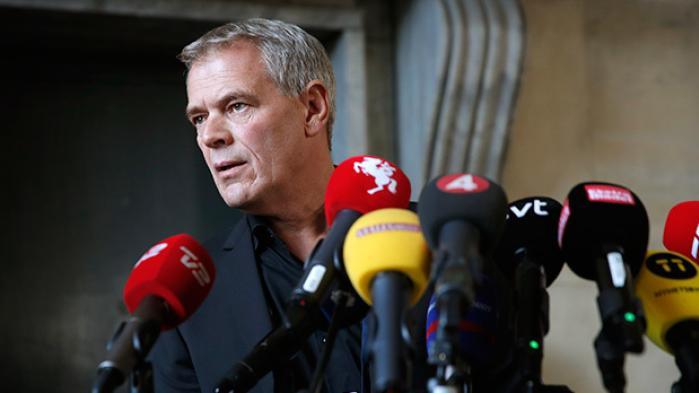 Københavns Politi fortæller onsdag på et pressemøde, at der var fæstet metal på Kim Walls torso