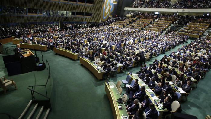 Den amerikanske præsident, Donald Trump, talte i går for første gang til FN's generalforsamling i New York.