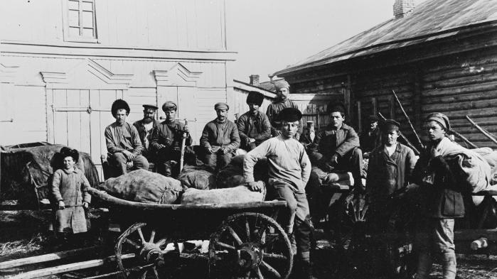 1917. En bataljon fra Den Røde Hær under Den Russiske Revolution.