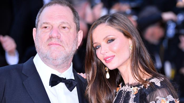 Harvey Weinstein og hans hustru Georgina Chapman fotograferet i Cannes i 2015.