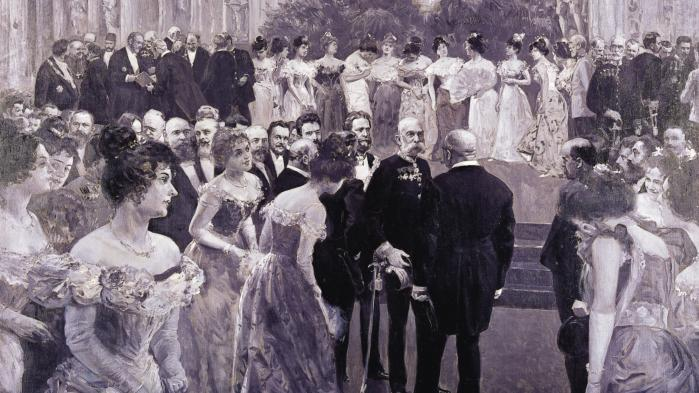 Wiens formodentlig mest populære politiker i moderne tid er borgmester Karl Lueger, som her er afbildet med kejser Franz Josef i 1900. Lueger førte en politik, som ligner dagens centraleuropæiske højrepopulisme – med den forskel, at vor tids muslimer dengang var jøder.