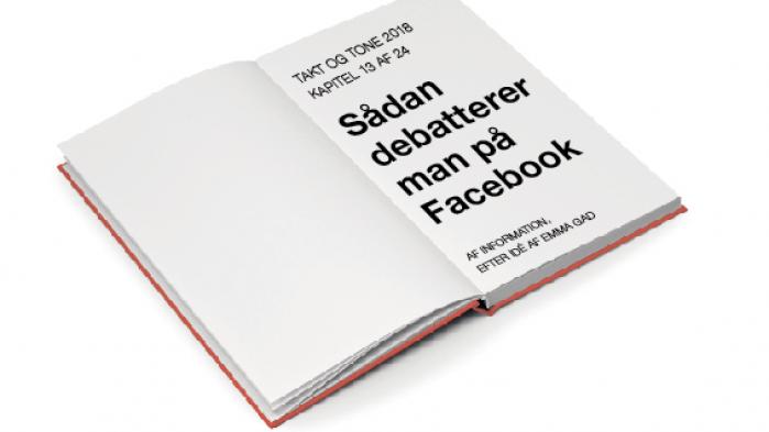 Informations julekalender er en genfortolkning af Emma Gads 'Takt og Tone' til vor tid, en progressiv social manual for det 21. århundrede og de muligheder, det byder på. Dette er trettende afsnit: 'Sådan debatterer man på Facebook'
