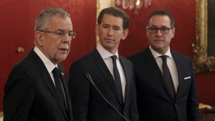 Den nye regering i Østrig vil kun udløse spredte protester i Østrig