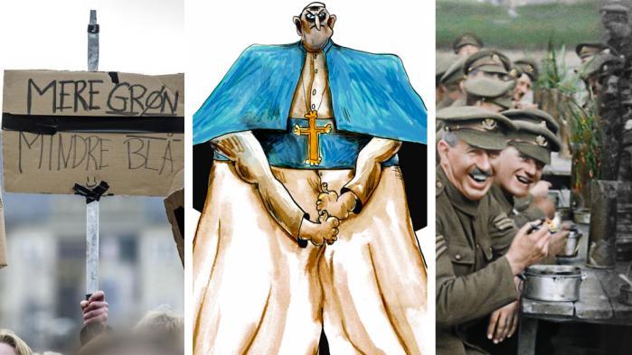 Endnu en uge er gået i oplysningens tjeneste, og vi runder af med forslaget om en europæisk klima- og finanspagt, en ny dokumentarfilm om Første Verdenskrig, som viser sig at være et lille filmmirakel, og så afslutter vi med den katolske kirkes katastrofale håndtering af de mange sexanklager