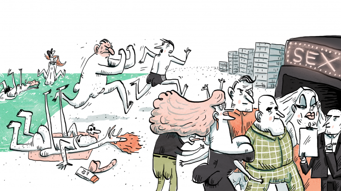 Hver sommer strømmer titusindvis af nøgne feriegæster til verdens største nudistby, Cap d'Agde i Sydfrankrig. Nogle søger tilbage til naturen, nogle solbader og sipper rosé, mens andre har vilde sexorgier på stranden. Information har været på nøgenreportage blandt 40.000 swingere og naturister, som i årtier har kæmpet om retten til verdens største nudistressort