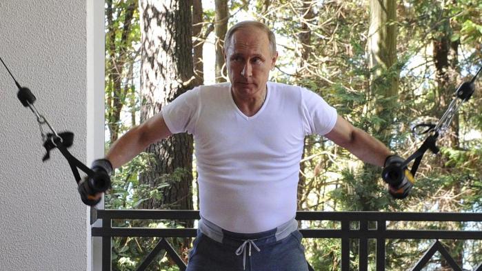 En rigtig mand, forstår man på den russiske præsident, er altid på toppen