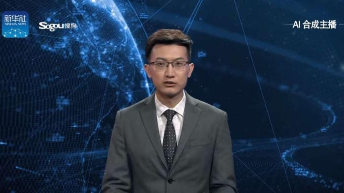 Kinas statlige nyheder har fået en comuterskabt engelsktalende nyhedsvært