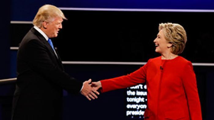 Måling viser overvældende Clinton-sejr ved ophedet debat